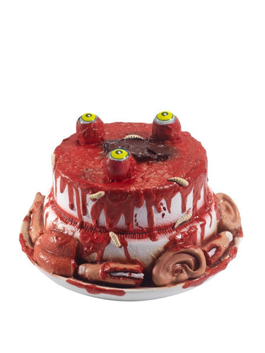 Latex Gory Gourmet Zombie Cake Prop