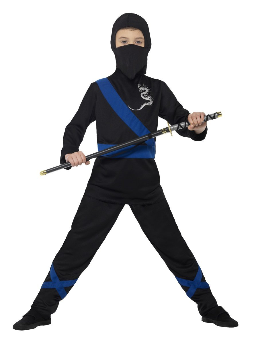 Ninja Assassin Costume, Black & Blue