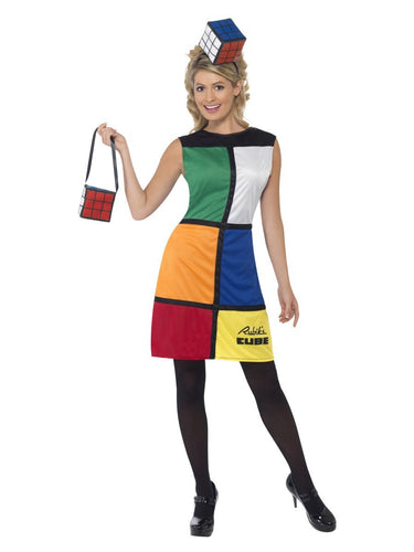 Rubik's Cube Costume, with Headband