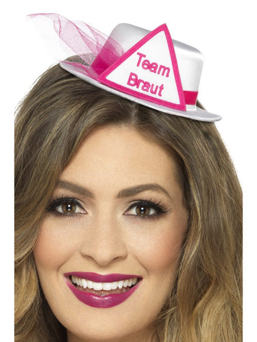 Team Braut Hat, White