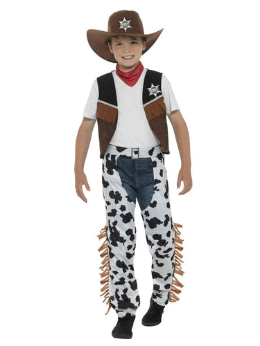 Texan Cowboy Costume, Child, Brown & Black