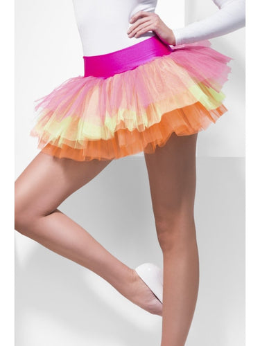 Tutu Underskirt, Multi-Coloured, Neon, Layered