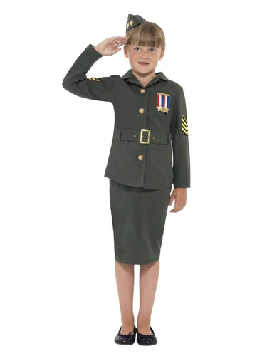 WW2 Army Girl Costume, Childs