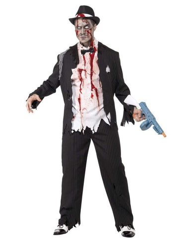 Zombie Gangster Costume, Black
