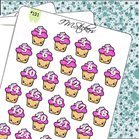 Date Covers Cute Kawaii Cupcakes