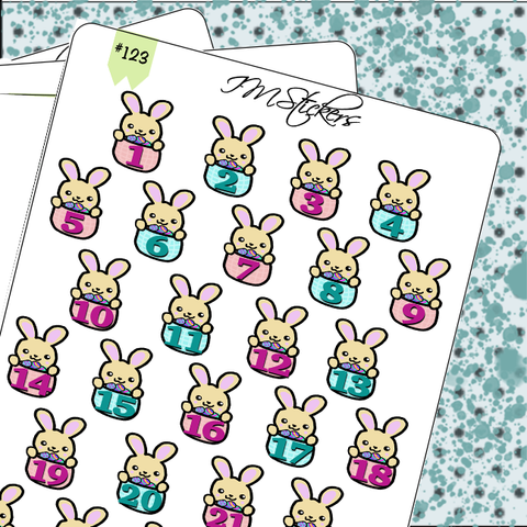 Date Covers Cute Bunny Rabbit