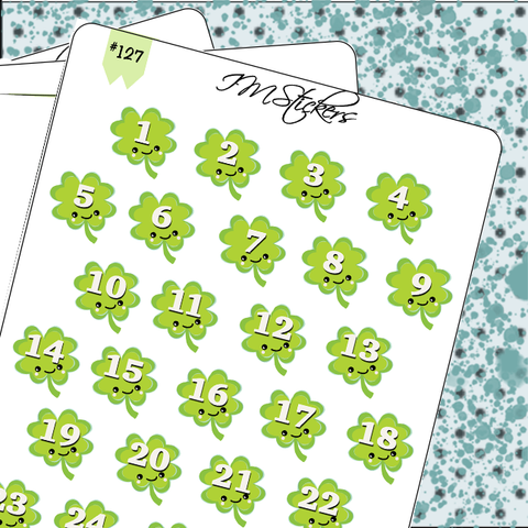 Date Covers Cute Green Shamrocks