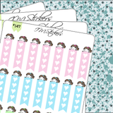 List Heart Pastel Colors Checklist