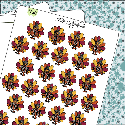 Date Covers Turkeys