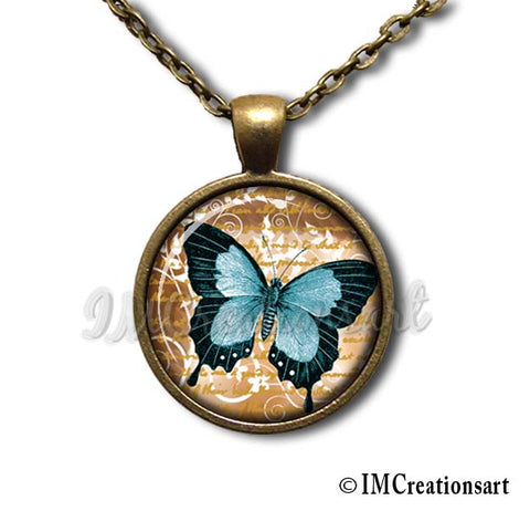 Butterfly Teal Brown