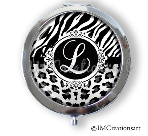 Personalized Initial Animal Print