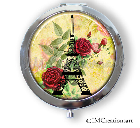 Eiffel Tower Red Rose