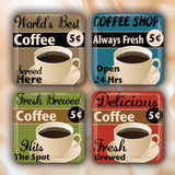 Coffee Shop Retro Signs