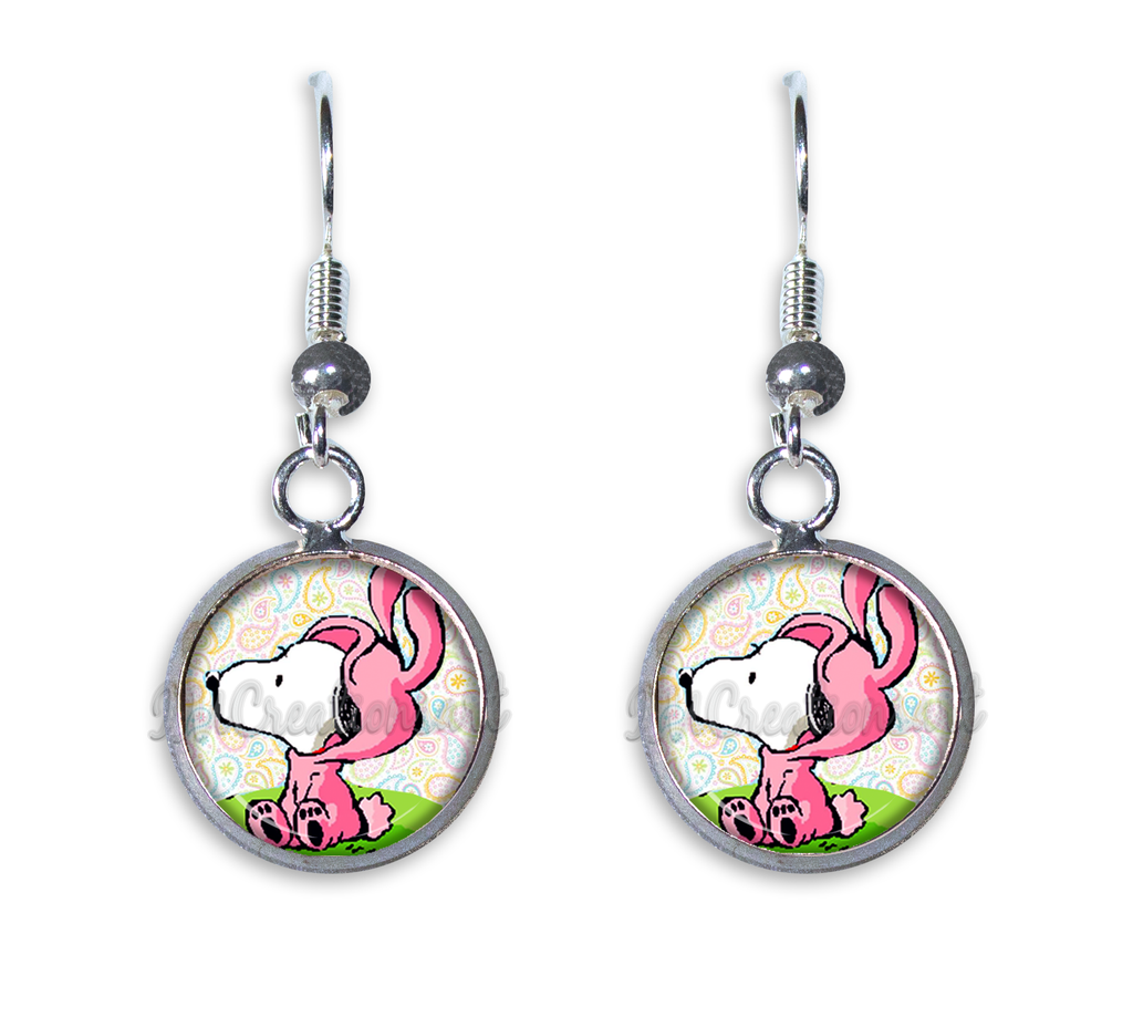 A Snoopy Pink Easter Bunny