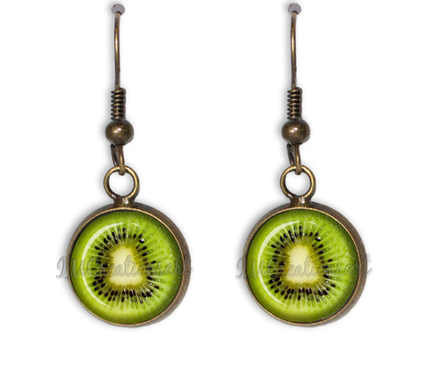 Kiwi Dangling Earrings