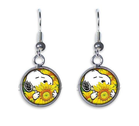 Snoopy in Sunflowers