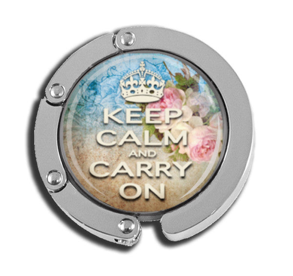 Keep Calm and Carry On blue brown