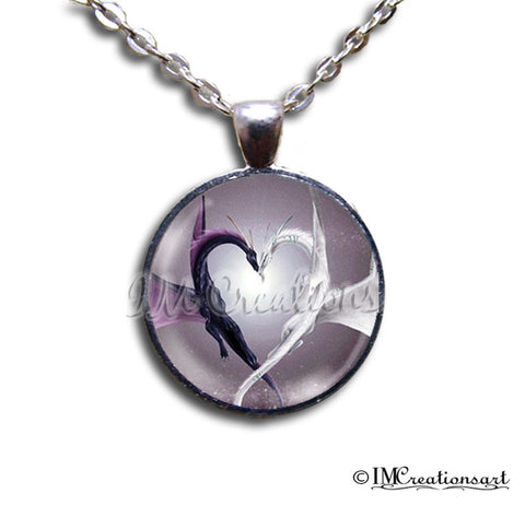 Purple White Dragon Heart