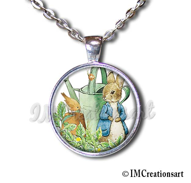 Peter Rabbit with Water Can Garden