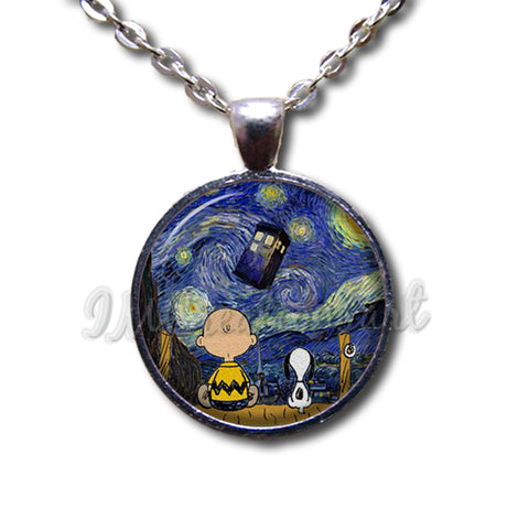 Snoopy Charlie Brown Starry Night
