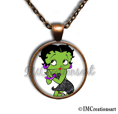 Betty Boop Green Zombie
