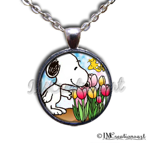Snoopy with Tulips