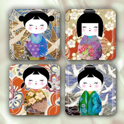 Washi Pattern Kokeshi Doll Collection