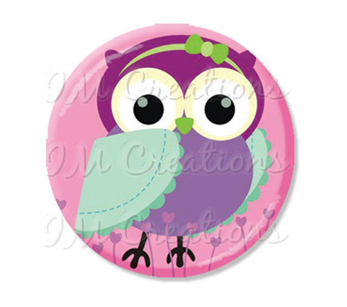 Whimsy Pretty Pink Owl