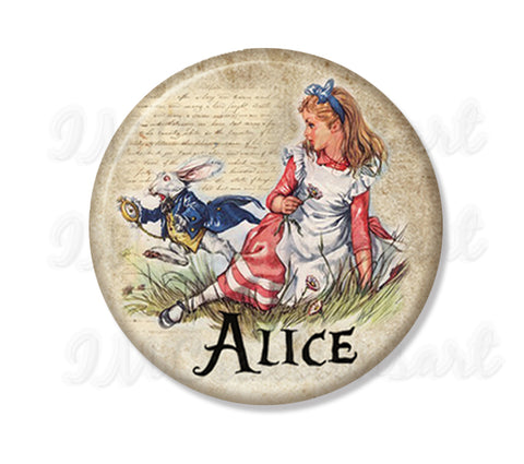 Alice In Wonderland - Alice and Rabbit