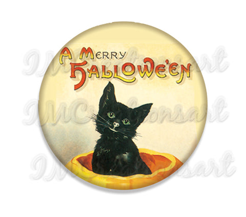 Merry Halloween Black Kitty