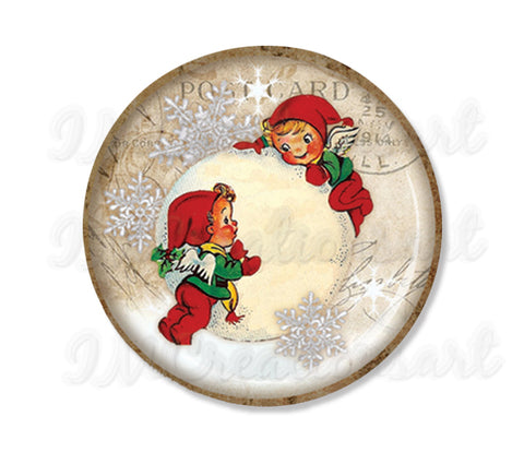 Elves Playing Snowball