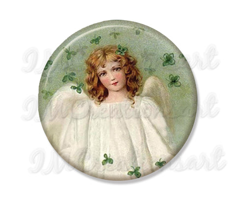 St. Patrick's Day Angel Green Shamrocks
