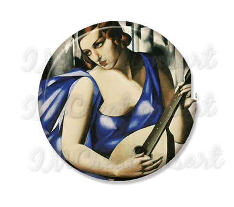 Lempicka's Blue Woman with Guitar