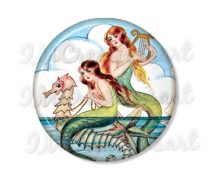 Seahorse and Mermaids