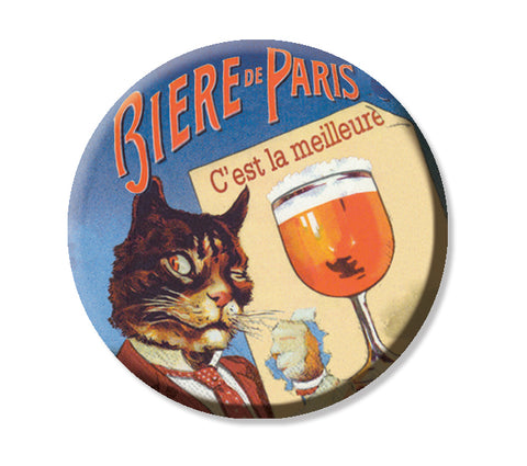 Vintage French Ad Cat Beer