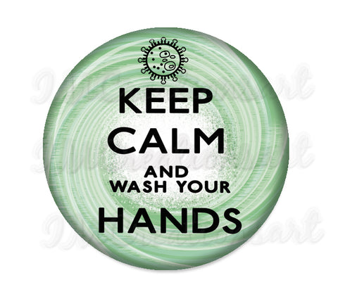 Keep Calm and wash your Hands (green)