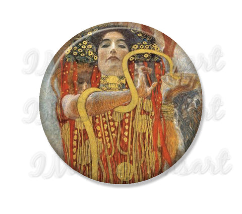 Klimt's Hygeia detailed of medicine