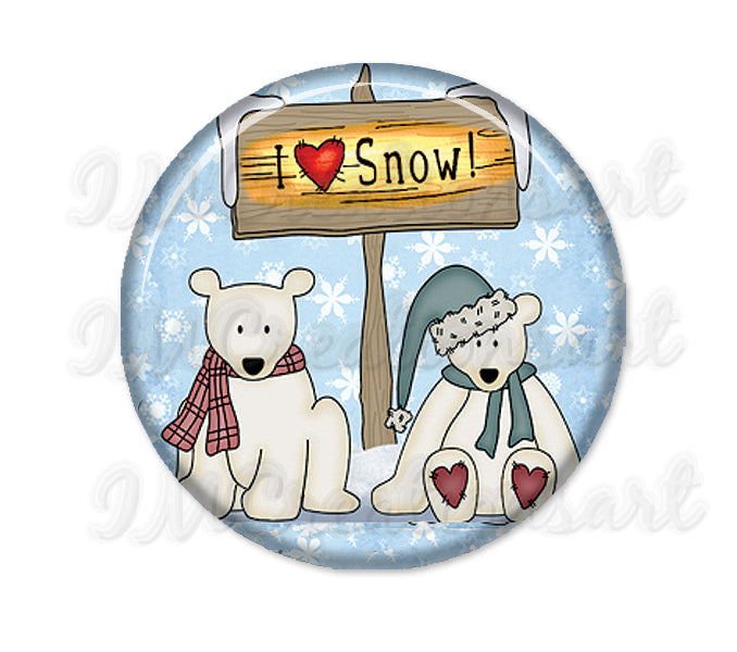 Christmas Holidays Polar Bear I Love Snow