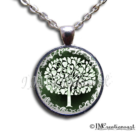 Tree of Life White Green