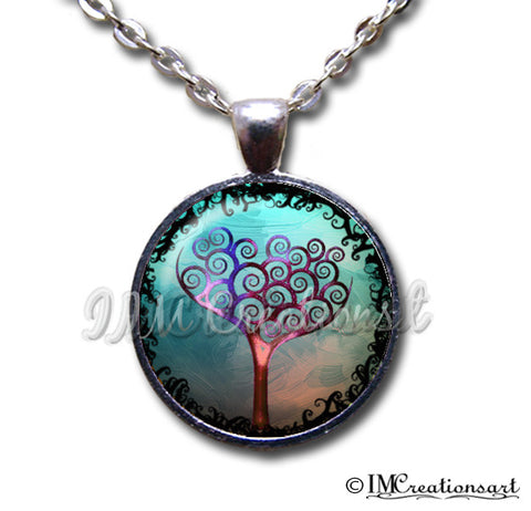 Tree of Life Purple Cyan Blue