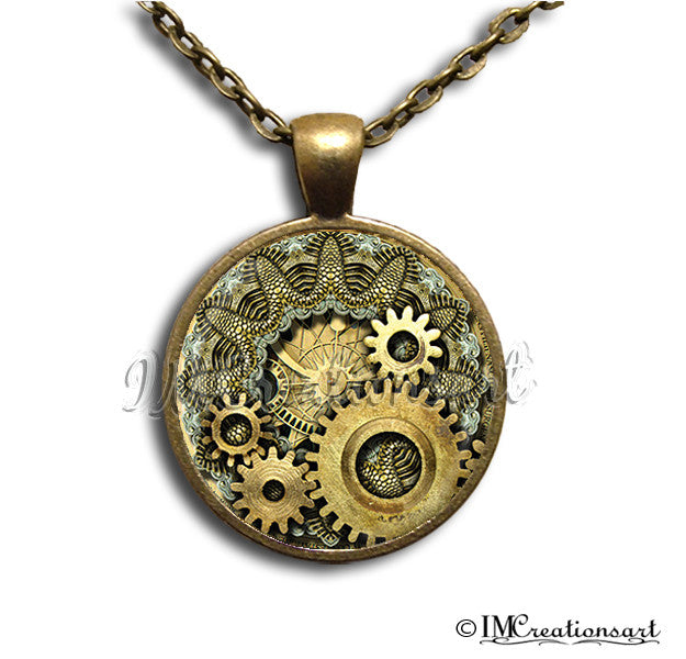 Golden Steampunk Gears