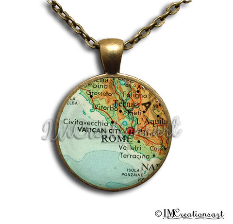 Vintage Rome Italy Map