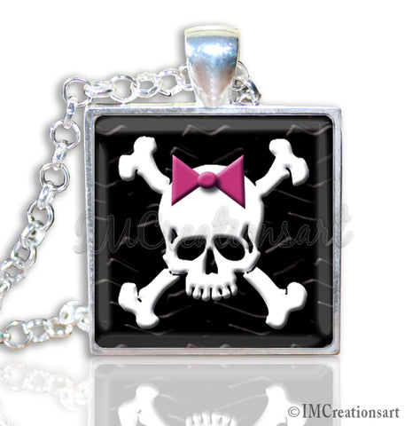 Crossbones with Pink Bow