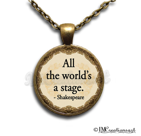 Shakespeare Quote All the World's a Stage