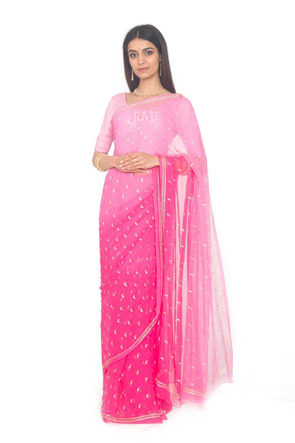 Aari Work Viscose Chiffon Saree - Yuvti