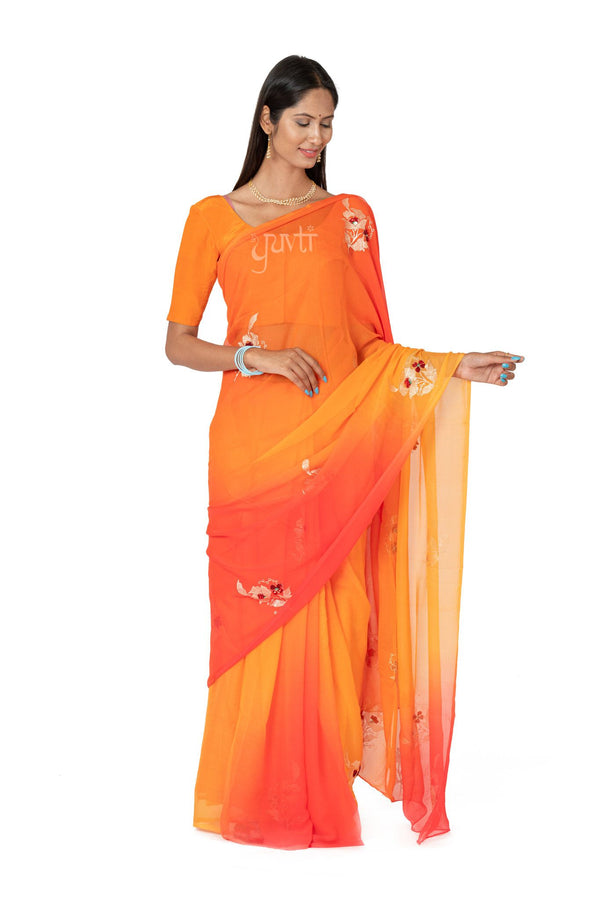 Aari Sequins Viscose Chiffon Saree