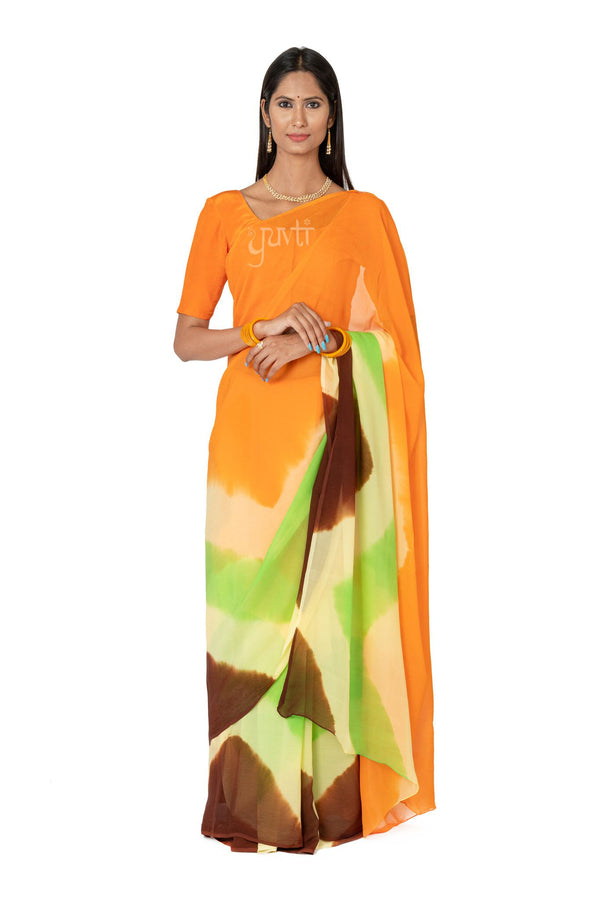 Shaded Pure Chiffon Saree