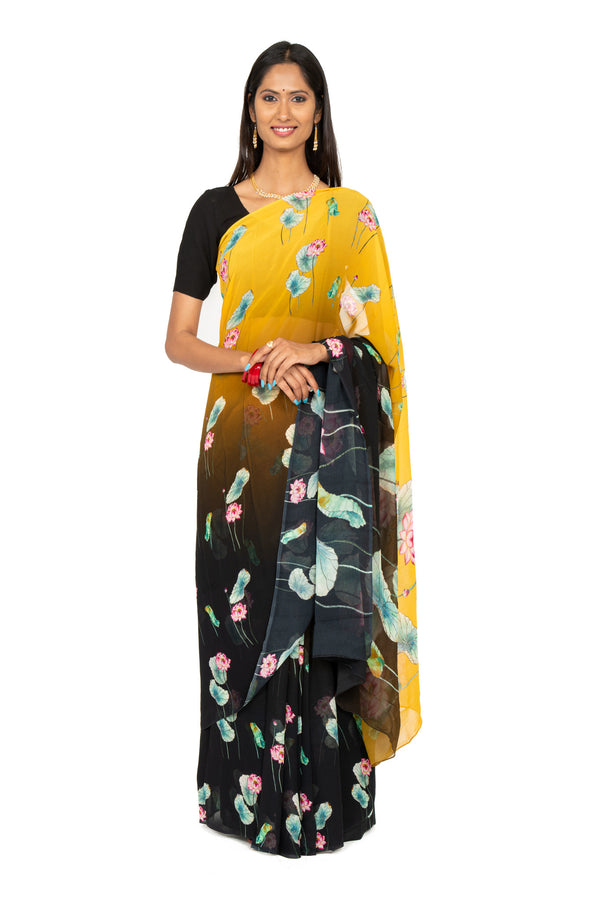 Digital Print Georgette Saree