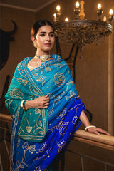 Peacock Sikhiya & Sequins Saree - Yuvti