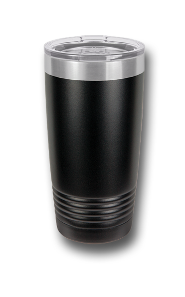 20 oz. Red Wolves Customizable Black Tumbler w/Lid